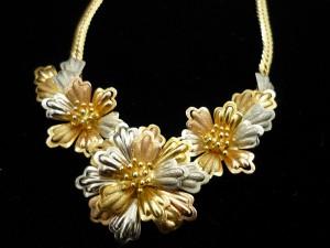 K18 花ネックレス